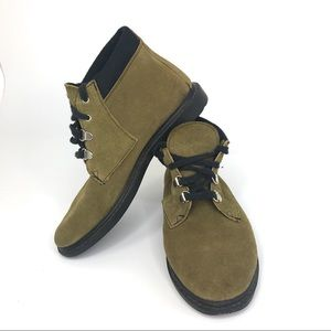 Shoes - Green Lace Up Ankle Boots Made in Spain